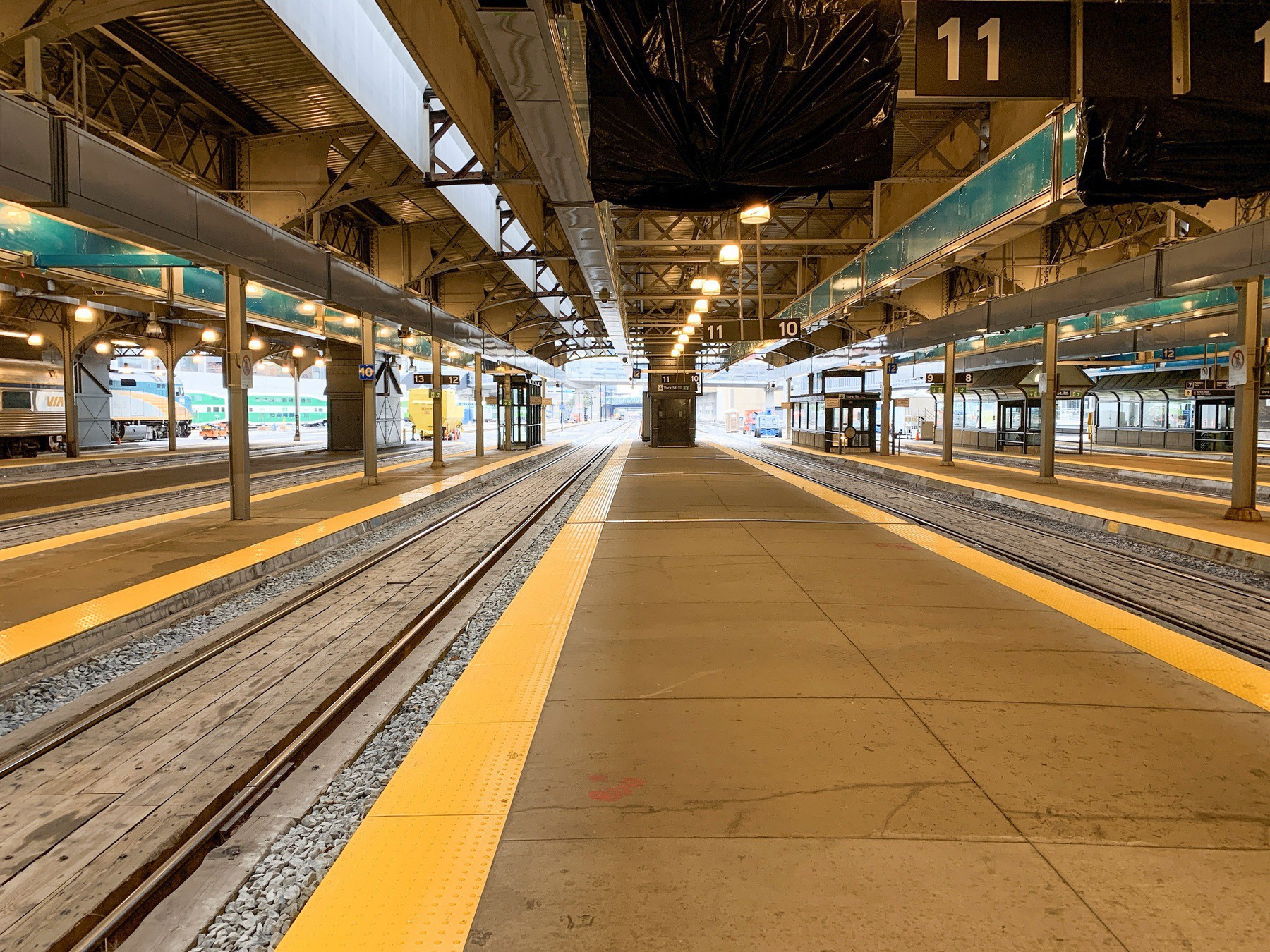 Track 10/11 at Union Station, Toronto, Ontario, Canada.